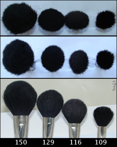 MAC brush 129 for Colour Ready - different angles