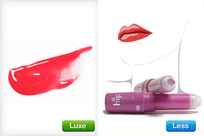 Makeup   on Less Vs  Luxe Lipsticks   Get The Look For Less In Makeup  Yay